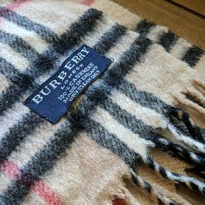 Vintage Burberry Cashmere Nova Check Scarf